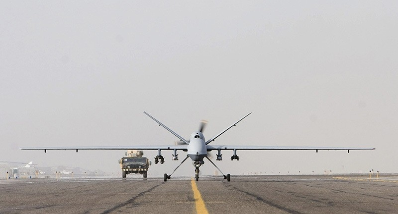 An MQ-9 Reaper takes of for a mission in Afghanistan Sept. 31. (Courtesy Photo)