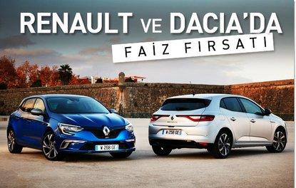 Renault ve Dacia'da sıfır faiz fırsatı