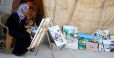Palestinian painter channels her fears of Israeli annexation