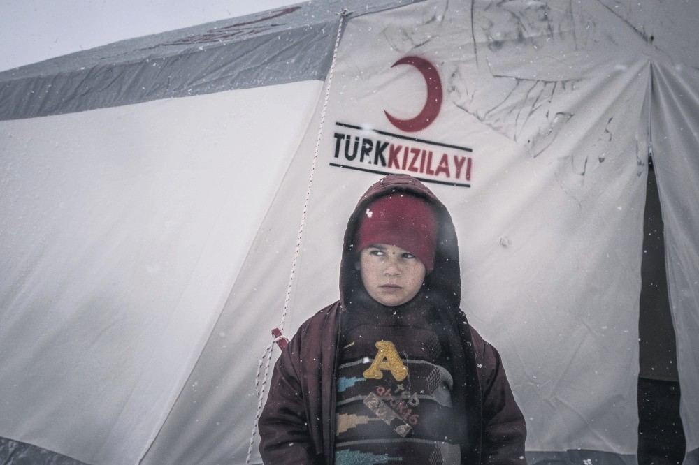 The Turkish Red Crescent, along with other Turkish NGOs, are currently working to set up a tent camp in Idlib where up to 20,000 Aleppo evacuees are expected to be settled in.