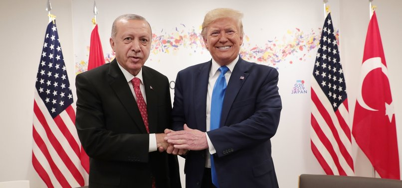 DONALD TRUMP SAYS GETTING ALONG WELL WITH TURKEYS ERDOĞAN