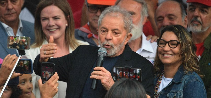 BRAZILS EX-PRESIDENT LULA RELEASED FROM IMPRISONMENT