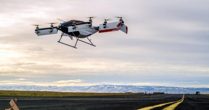Airbus elektrikli 'uçan taksinin' görüntülerini yayınladı