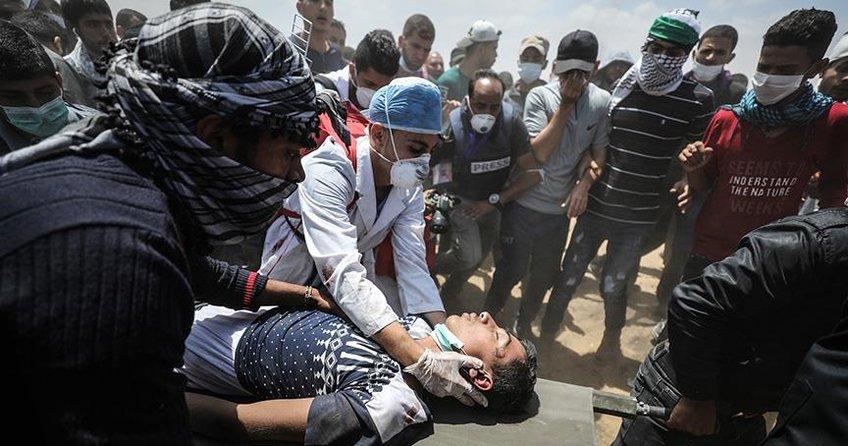 Gazzedeki gösterilerde 43 Filistinli şehit oldu