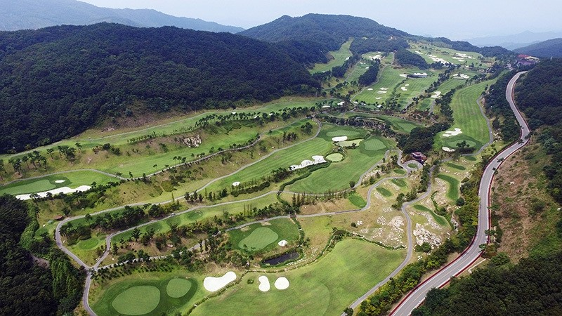 This private golf course in S. Koreau2019s southeast region was chosen as the site for an advanced U.S. missile defense system to be deployed by the end of next year. (Yonhap Photo via AP)