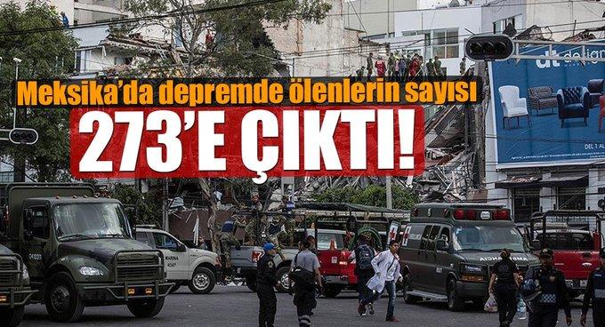 Meksikadaki depremde ölenlerin sayısı gittikçe artıyor