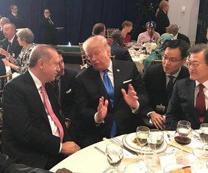 Erdoğan ve Trump yemekte sohbet etti!