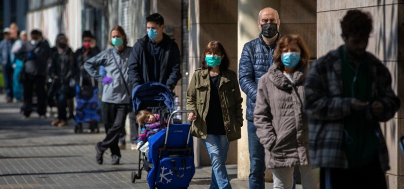 SPAINS CORONAVIRUS DEATH TOLL RISES BY 674 BUT PACE KEEPS SLOWING