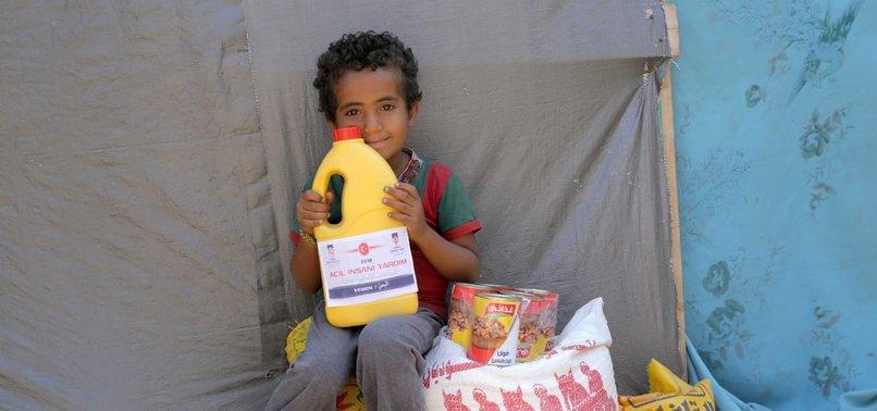 TURKISH RED CRESCENT DISTRIBUTES FOOD TO YEMENI FAMILIES