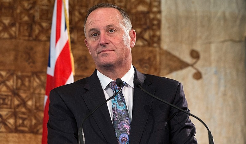 A file picture dated 17 October 2015 shows Prime Minister John Key answering questions at a joint media conference with Australian Prime Minister Malcolm Turnbull (EPA Photo)