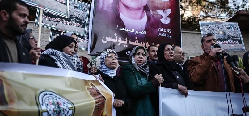 GAZANS RALLY FOR RELEASE OF PRISONERS IN ISRAEL