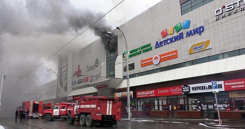 Rusyada AVMde facia: 53 ölü