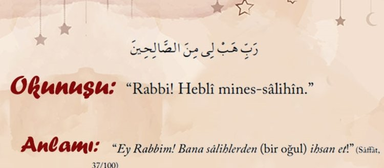 Peygamberlerin Kur'an'da geçen duaları