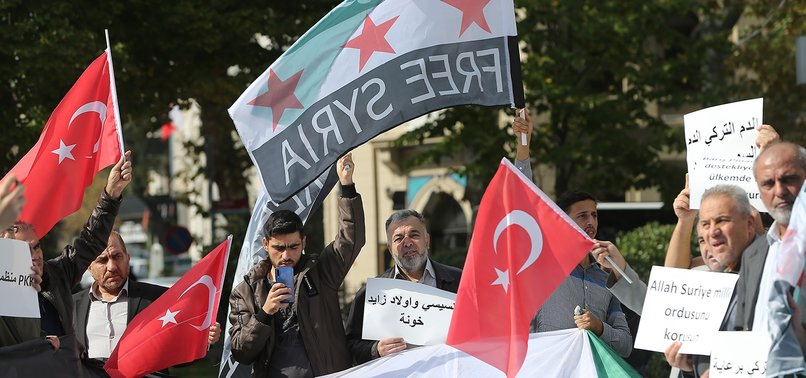 SYRIANS RALLY IN SUPPORT OF TURKISH ANTI-TERROR PUSH