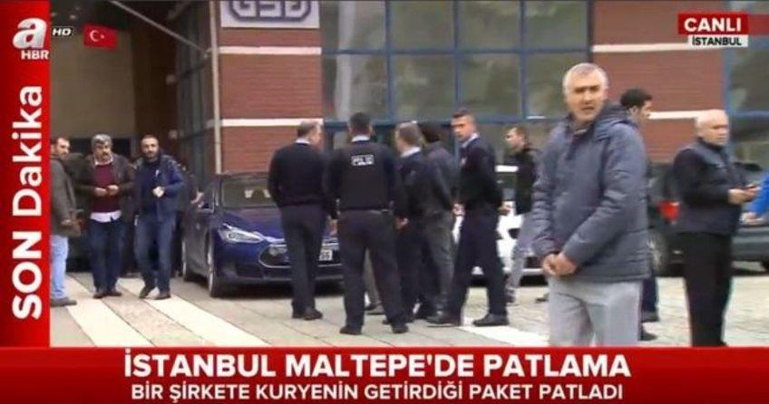 İstanbul Maltepe'de bir şirkette patlama!