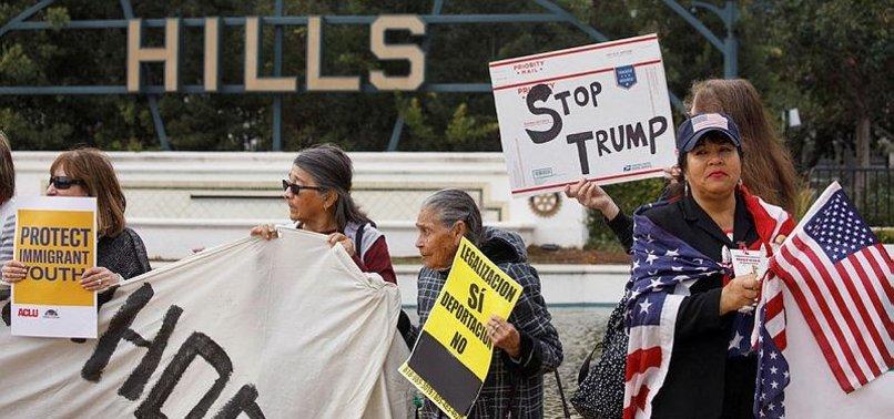 PROTESTERS IN CALIFORNIA DENOUNCE TRUMP VISIT