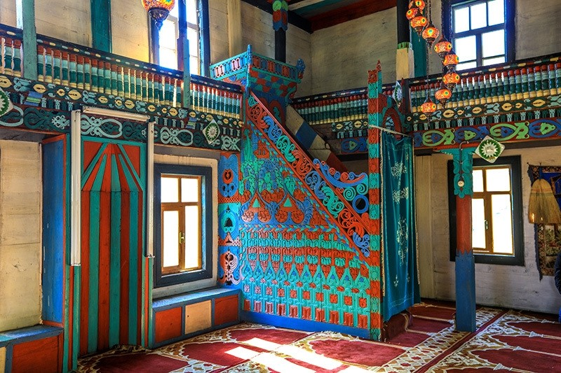 The 165-year-old u0130remit Mosque, Turkey's northern province of Artvin. (AA Photo)