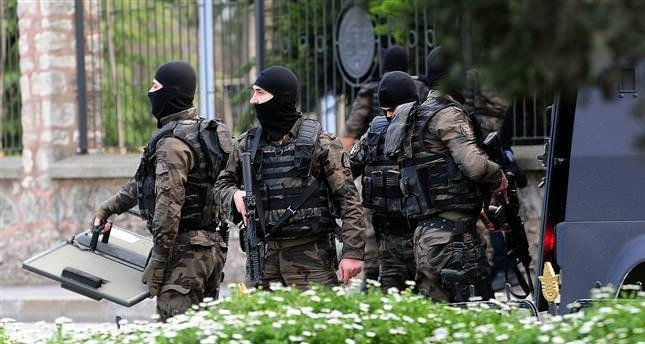Members of Police Special Operations Unit during an operation in Istanbul