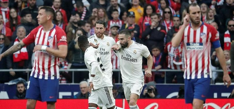 REAL WIN MADRID DERBY TO MUSCLE INTO TITLE RACE