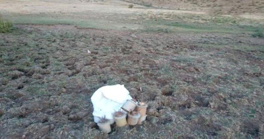 Şemdinli'de PKK'ya ait 41 antipersonel mayını ele geçirildi