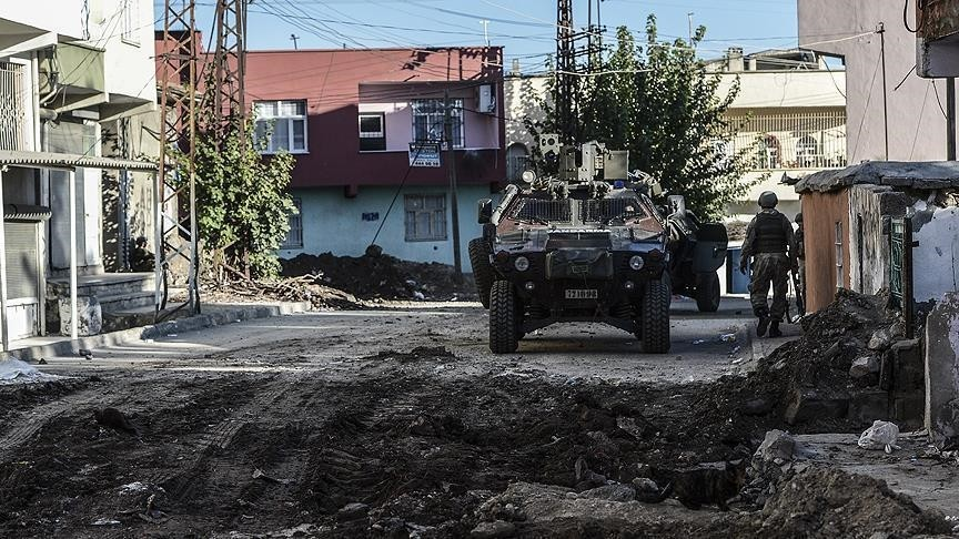 Barricades were erected and ditches dug by the PKK last year in order to prevent Turkish security forcesu2019 entrance to cities in southeastern Turkey. (AA Photo)