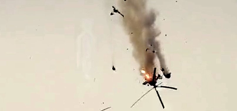 ASSAD REGIME HELICOPTER DOWNED IN SYRIAS ALEPPO PROVINCE
