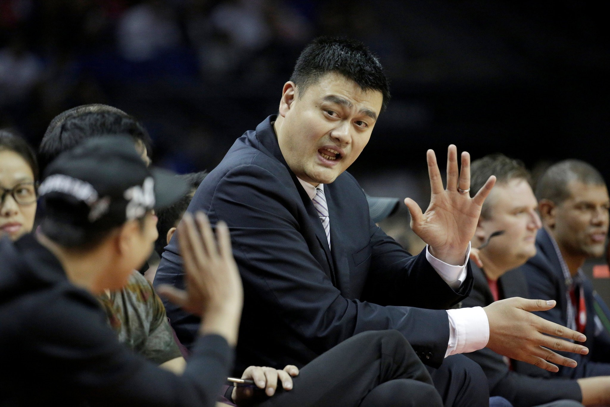 Basketball - NBA Global Games - Shanghai, China - 09/10/16. Houston Rockets v New Orleans Pelicans Former Houston Rockets player Yao Ming is seen. (REUTERS Photo)