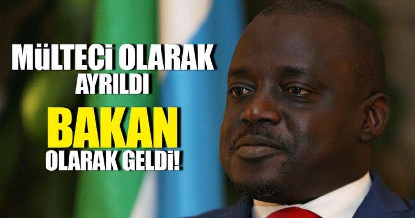 Mülteci olarak ayrıldığı Türkiyeye bakan olarak geldi