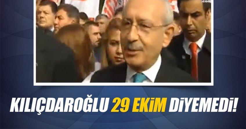 Kılıçdaroğlu'nun gazetecilere yaptığı konuşma sırasında dili sürçtü.
