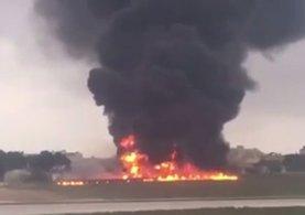 AB yetkililerini taşıyan uçak Malta yakınlarında düştü