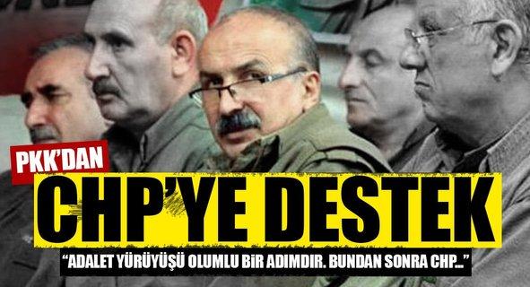 PKK'dan CHP'nin adalet yürüyüşüne destek!