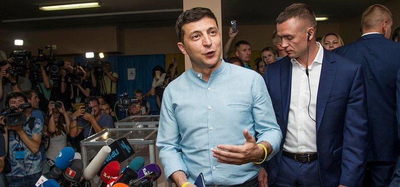 ZELENSKY PARTY WINS RECORD SCORE IN UKRAINE VOTE: EXIT POLLS