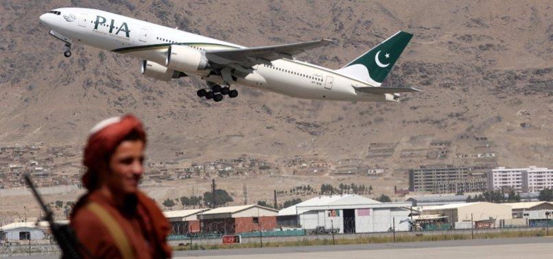 TALIBAN ASKS PAKISTAN TO ALLOW AFGHAN AIRLINES TO RESUME SERVICE