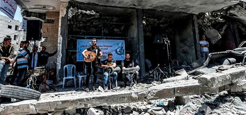 PALESTINIANS IN GAZA STAGE CONCERT TO RIVAL EUROVISION