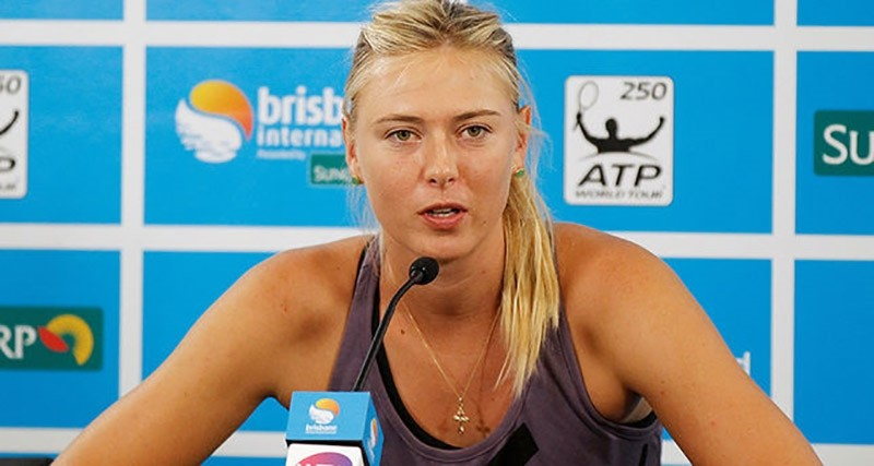 Maria Sharapova of Russia speaks during a news conference at the Brisbane International tennis tournament in Brisbane, Australia January 1, 2013. (Reuters Photo)