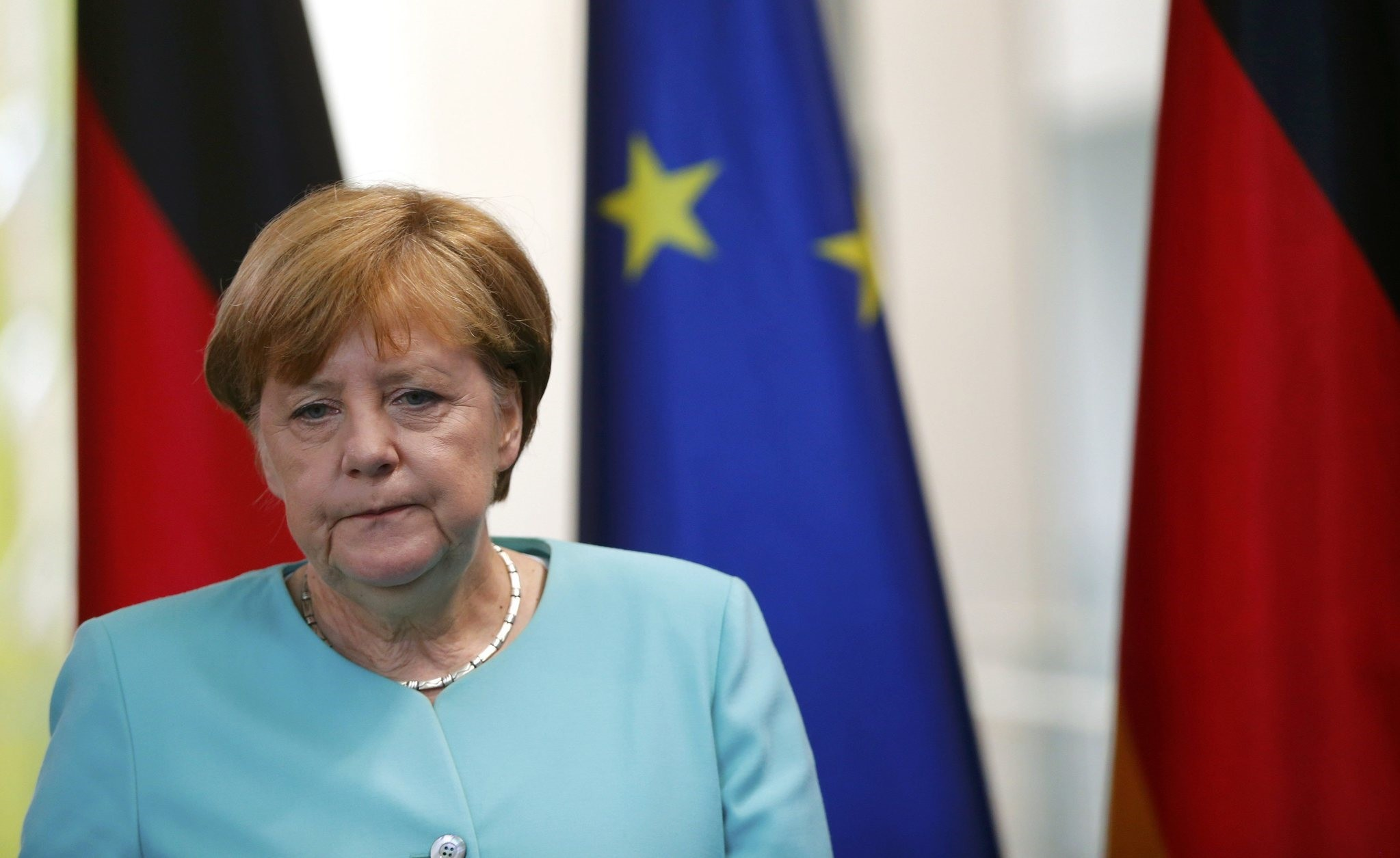 German Chancellor Angela Merkel arrives for a statement in Berlin, Germany, June 24, 2016, after Britain voted to leave the European Union in the EU BREXIT referendum. (REUTERS Photo)