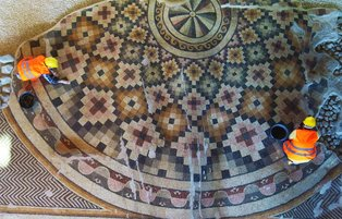 Massive intact mosaic to go on show in Turkey's Hatay
