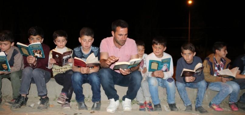 NEWLY-ELECTED NEIGHBORHOOD HEADMAN STARTS READING HOUR FOR KIDS IN EASTERN TURKEY