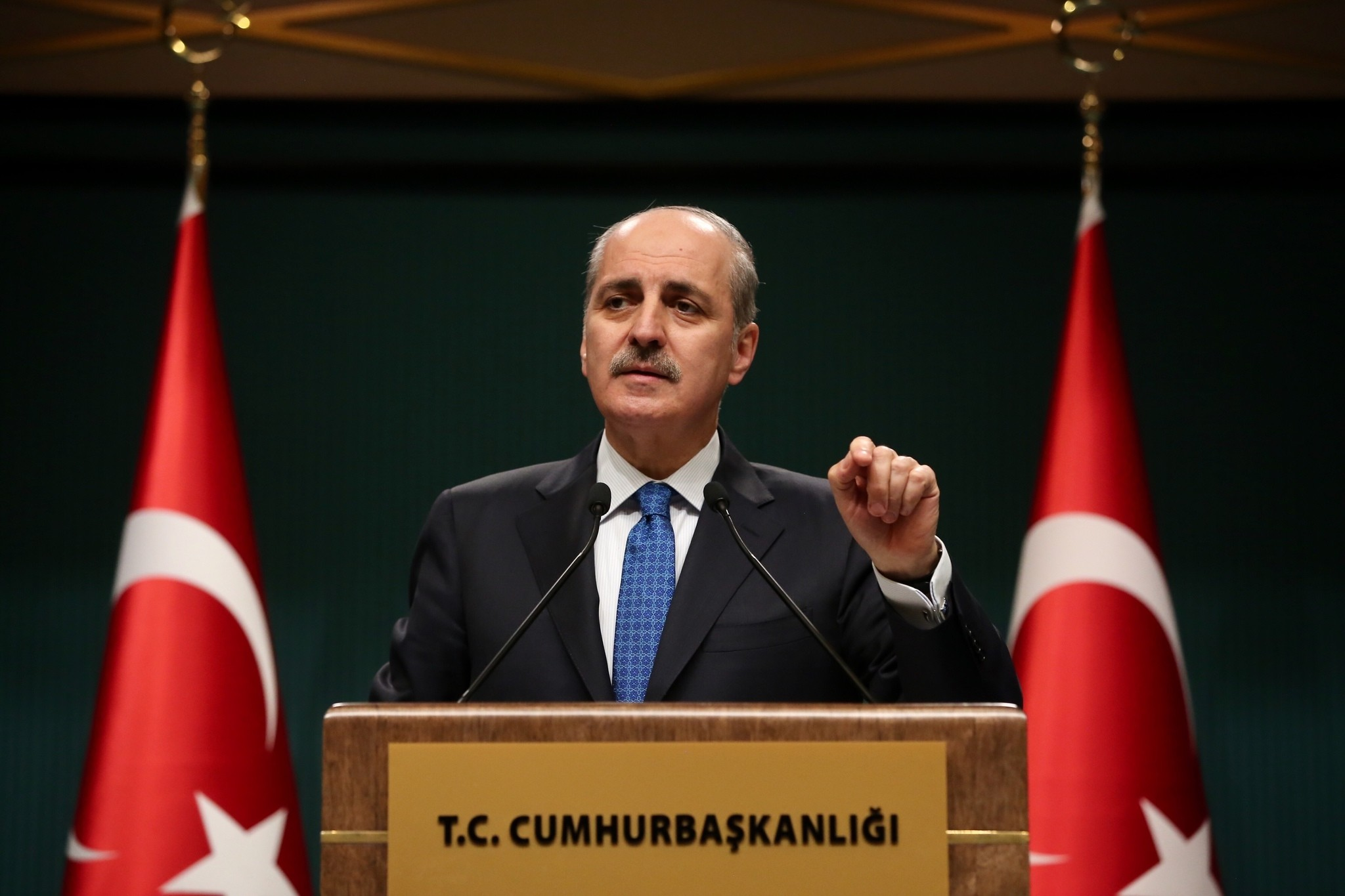 Numan Kurtulmus holds press conference after a cabinet meeting in Ankara on January 2, 2017. (AA Photo)