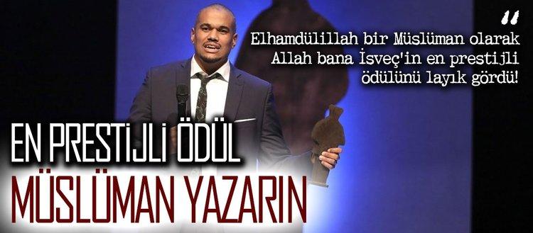 İsveç'in en prestijli ödülü Müslüman yazarın oldu