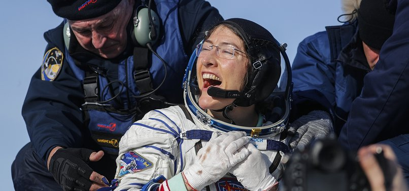 NASA ASTRONAUT KOCH LANDS ON EARTH AFTER RECORD SPACE MISSION