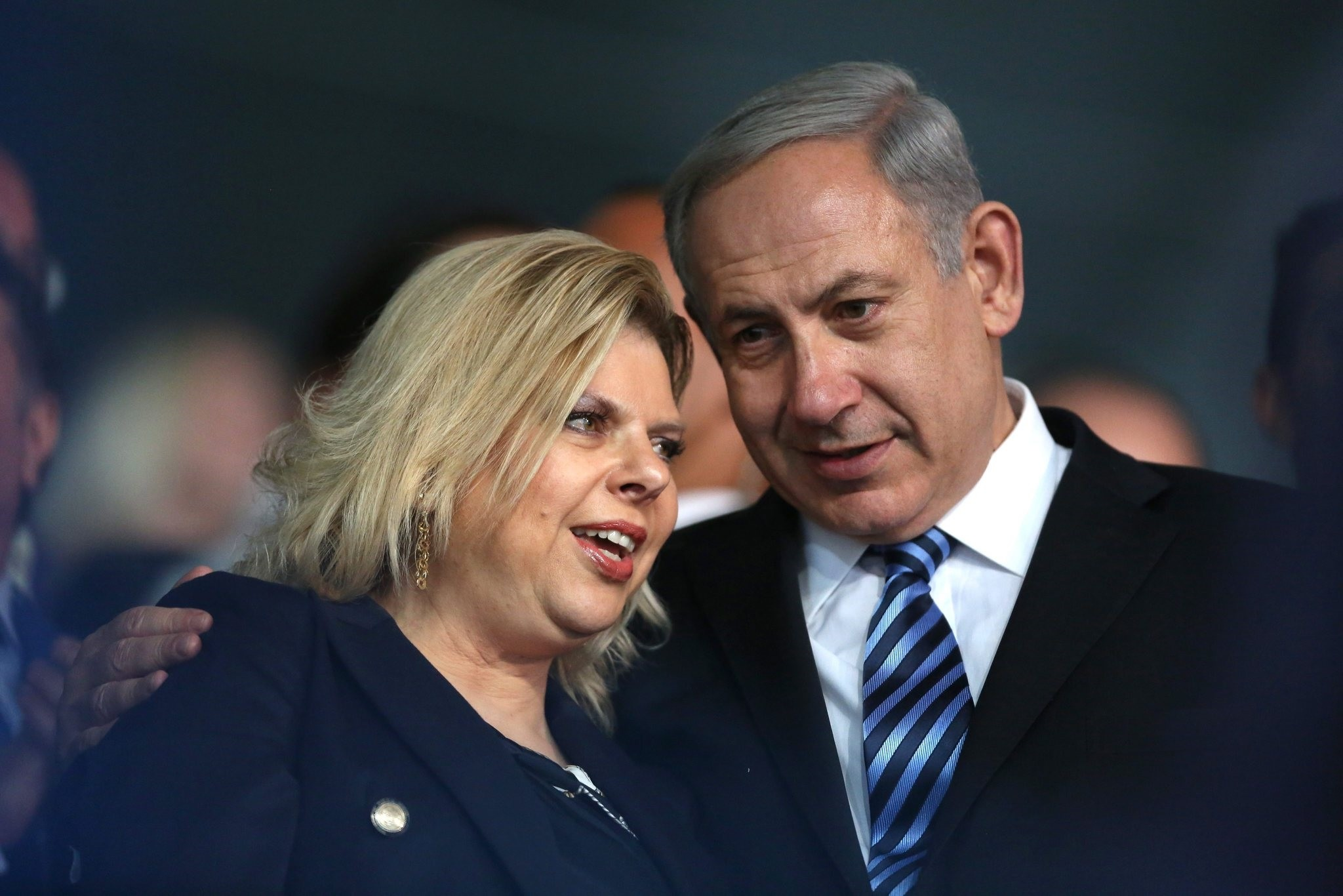 Israeli Prime Minister Benjamin (R) Netanyahu with his wife Sara Netanyahu (L) (EPA Photo)