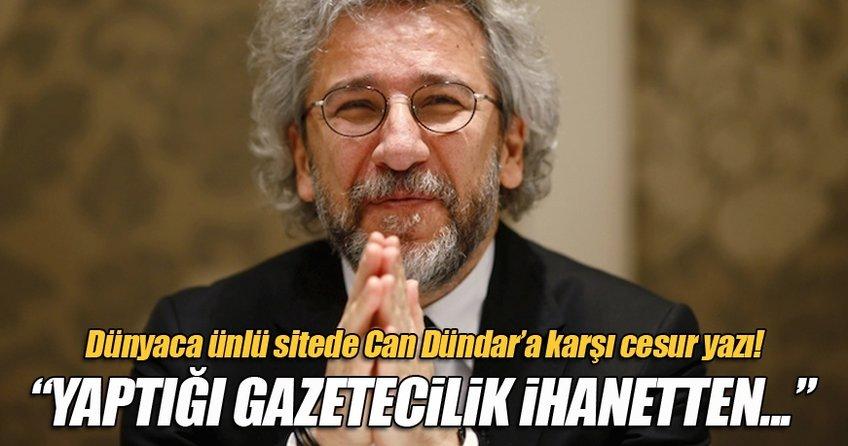 Gazeteci Emir Ekşioğlu'ndan Can Dündar'a karşı cesur yazı!