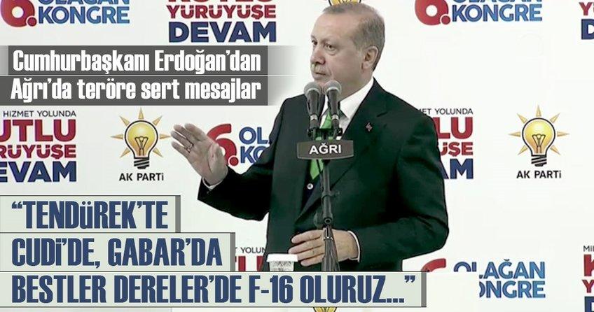 Cumhurbaşkanı Erdoğandan Ağrıda teröre sert mesajlar