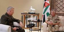 Jordan king meets US CENTCOM commander in Amman