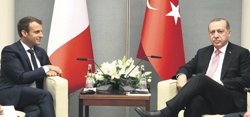 JOINT DEFENSE INITIATIVES AT CENTER OF ERDOĞAN, MACRON MEETING IN PARIS