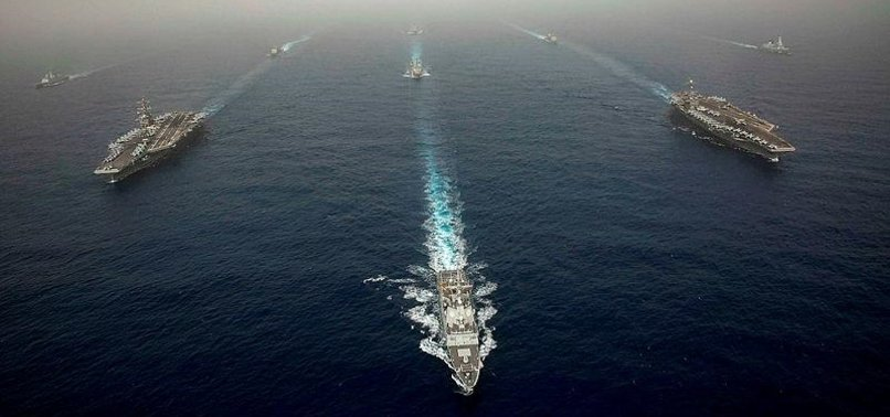 US NAVY DRILL RAISES TENSION IN SOUTH CHINA SEA