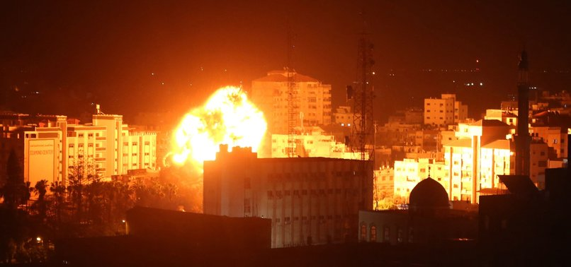 ISRAEL SHELLS HAMAS OBSERVATION POSTS IN GAZA STRIP