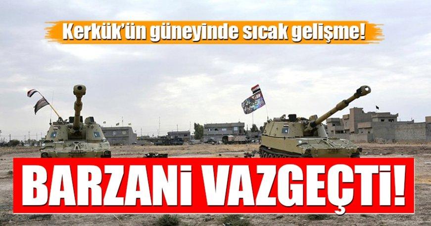 Barzani vazgeçti! Peşmerge Kerkük'ten çekiliyor