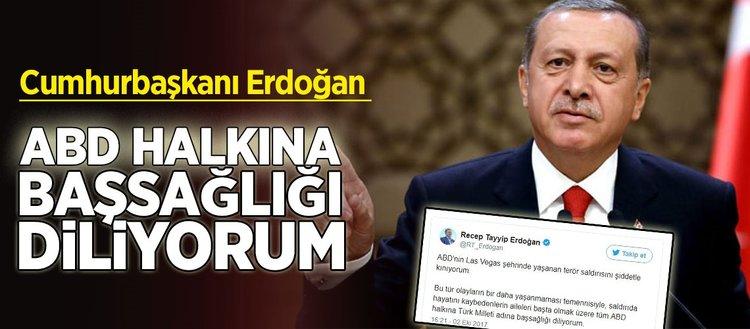 Cumhurbaşkanı Erdoğan ABD'deki saldırıyı kınadı